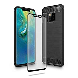 Olixar for Huawei Mate 20 Pro Case with Screen Protector – 360 Protection/Front + Back – Full body Cover – 9H Tempered Glass – Sentinel – Black