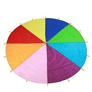 I – Juego de paracaídas multicolor para niños, juego al aire libre, escuela, maternidad de desarrollo, paracaídas…