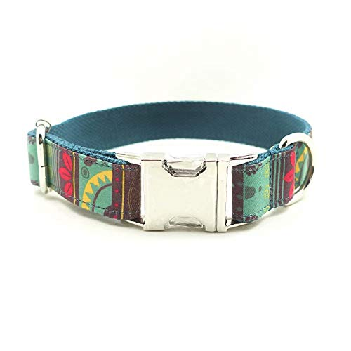 XBUTY - Collare per Cani, Realizzato a Mano, Stile Etnico Mayan, Morbido e Confortevole, in Nylon e Lino, per Cani di Taglia S/M/L/XL, 4 Dimensioni