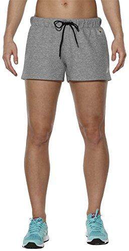 asics Fleece Short Women Heather Grey Größe M 2016 Laufhose kurz - Asics Fleece