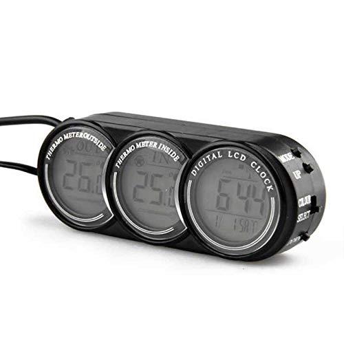 Preisvergleich Produktbild V.JUST Auto Digital Thermometer Auto LCD Digital Temperatur 2 Farben Hintergrundbeleuchtung Uhr Im Freien Elektronische Zeit