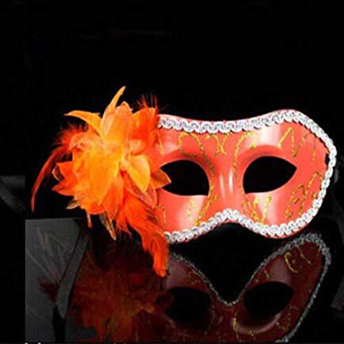 QTJKH Horror Maske Venezianische Maskerade Festival Half Face Venezianische Maskerade Maske Hochzeit Prinzessin Charm @ D