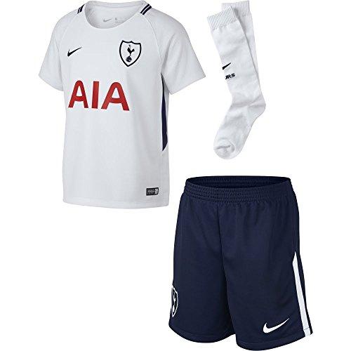 Nike Thfc LK Nk BRT Kit Hm Conjunto 1ª Equipación Tottenham Hotspur FC 17-18, Unisex niños, (White/Binary Blue), L