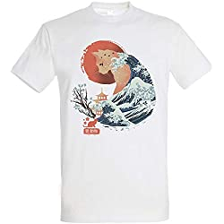 Camiseta Spirit Animal Cat - Gato - Japon - 100% Algodón - Serigrafía