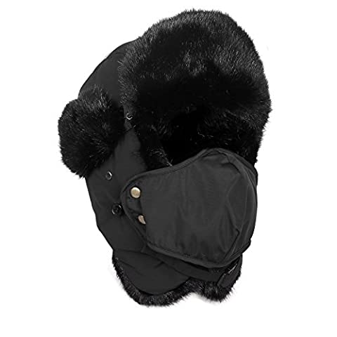 Inbike Ski Hat with Mask for Winter Snowboard Earflap Ski Cap Face Warmer for Men(Black)