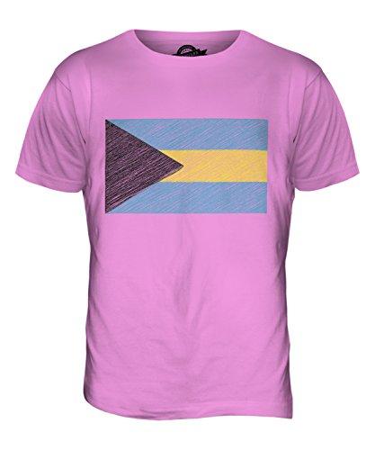 CandyMix Bahamas Bandiera Scarabocchio T-Shirt da Uomo Maglietta Rosa