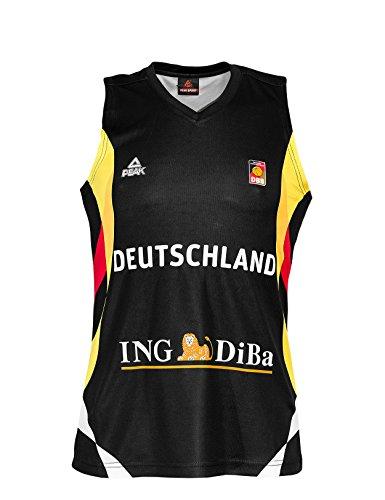 PEAK Sport Europe Damen Deutschland Basketball Trikot 2015, Schwarz, XS, G-DBB141-W-A