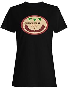 Festival De Oktoberfest 2017 camiseta de las mujeres o497f