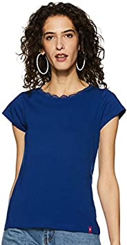 StyleVille.in Womens' Plain Regular Fit T-S