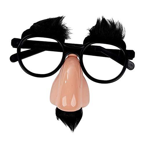 Finebuying Fuzzy Nose and Glasses Klassische Partybevorzugungsbrille mit lustiger Nase (WIE ZEIGEN)