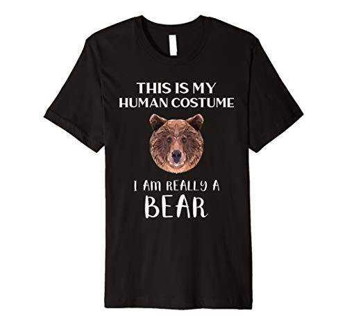 Lustiges Bären Halloween Kostüm T-Shirt | Natur & Camping (Bär Frauen Kostüm)