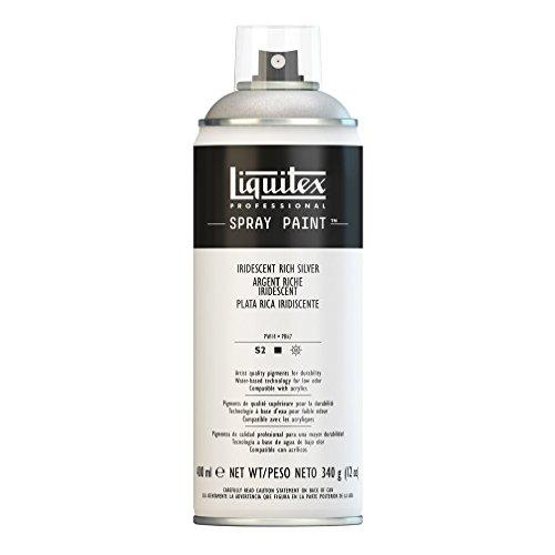 Liquitex Professional Spray Paint - Acrylfarbe, Farbspray auf Wasserbasis, lichtecht, 400 ml - Irisierendes Reich - Silber (Silber-farben-spray)