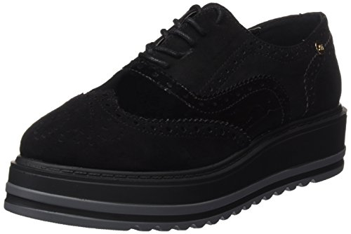 XTI 047331, Zapatos Cordones Oxford Mujer, Negro Black