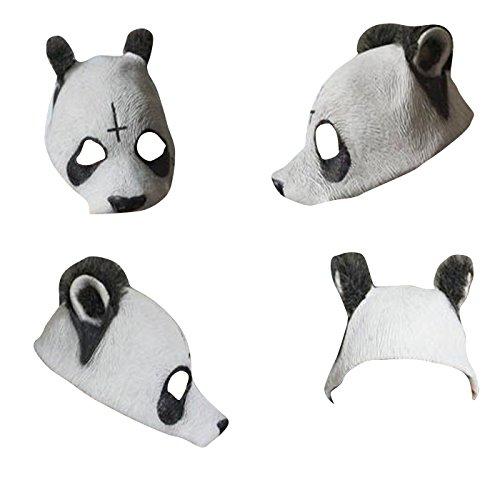 thematys Cro Panda-Maske - perfekt für Fasching, Karneval & Festival - Kostüm für Erwachsene - Latex, Unisex ()