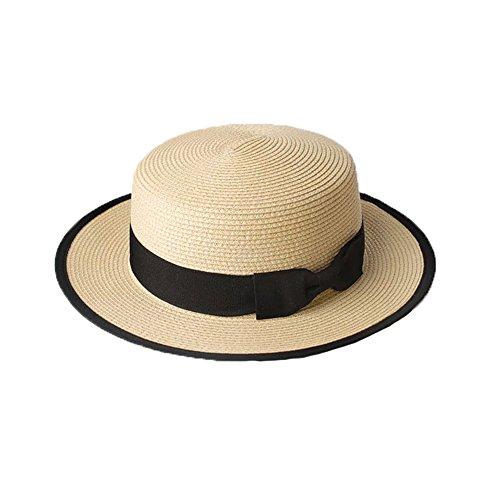 7e46afe202ffa Sombrero Cordobés Verano Hombres Chicos Mujeres Paja Contraste Canotier  Sombrero de Sol-Color.