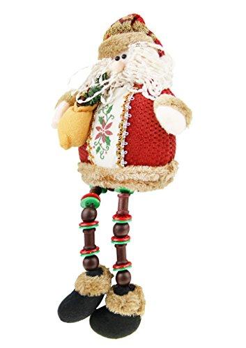 Cute bambola giocattolo Statuetta di figura seduta pupazzo di neve Babbo Natale Natale Decorazione Partito da interni e da decros Albero di Natale Hanging Ornament Decorazioni giocattolo artigianato Regali Santa Claus
