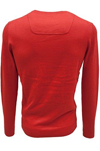ESPRIT Herren Crew-Neck Pullover mit Cashmere Rot (red 630)