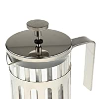 ELECTROPRIMEÃ'® Coffee Maker Set French Press Steel Coffee Tea Plunger Glass Filter 600ml