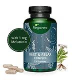 Suplemento Para Ansiedad + Insomnio Vegavero | Anti Estrés | Melatonina + Valeriana + Pasiflora +...