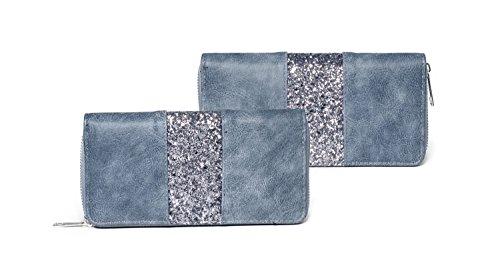 Kandharis , Portafogli  Donna blu jeans