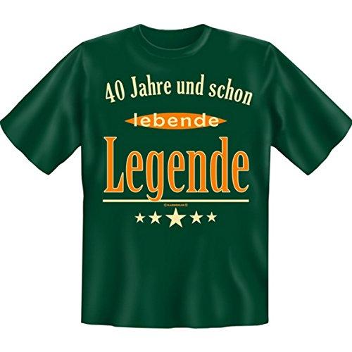 Mit vierzig schon lebende Legende! 40 Set Goodman Design® Lustiges Motivshirt Gr: Farbe: dunkelgrün Dunkelgrün