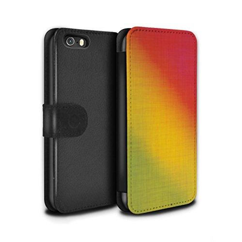 STUFF4 PU-Leder Hülle/Case/Tasche/Cover für Apple iPhone 5/5S / Baumwollfarbstoff Muster / Ombre Mode Kollektion Baumwollfarbstoff