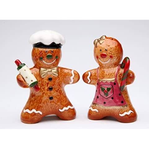 Cosmos Gifts Gingerbread Couple Salt and Pepper Set, 3-3/8-Inch by Cosmos Gifts