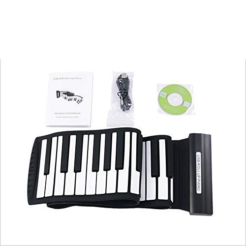 Klaviere Keyboards Verdickter USB-MIDI-88-Keys Flexibles Soft-Silicon-Elektro-Digital-Faltbares aufrollbares Keyboard-Piano mit Aufnahme-Programmierfunktionen Kompatibel mit Win XP / Vist / Win 7 / Ma -