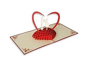 yokarta 3d pop up klapp karten hochzeits liebes karten. Black Bedroom Furniture Sets. Home Design Ideas