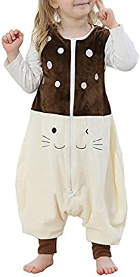 Niños - franela sin mangas - saco de dormir - chándal pijamas manta portátil - Wearable