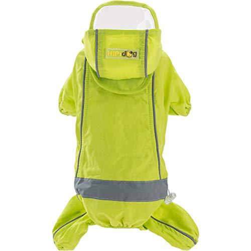 POPETPOP Regenmantel für Hunde, wasserdicht, dünn, für kleine Katzen, für Frühling und Sommer, Größe M, Grün