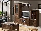 MUEBLES DELUXE ONLINE MEDITERRANEA Mueble Salón Rústico Modelo 1 - Salón Rústico con Mesa Centro