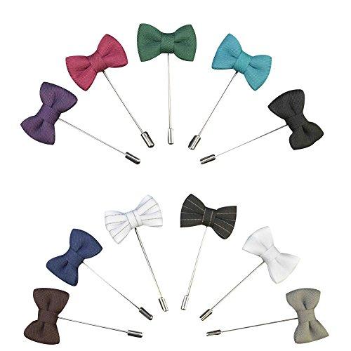 ckblumen Gemischt zufällig Herren Handgefertigt Revers Pin Blume Set im Knopfloch Schläger Revers Krawatte Brosche Schleife Boutonniere für Anzug (zufällig 12 Stück) ()