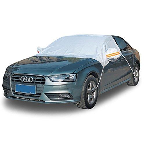 L&Z Auto Kleidung Sommer Neue Auto Abdeckung Sonnenschutz Regen Isolierung Haken Halbe Elastische Band Halbe Sonne Schild