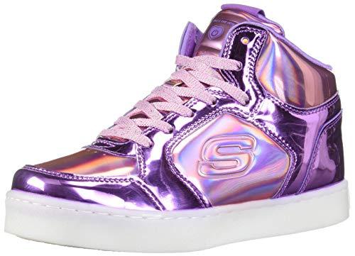 Skechers energy lights-shiny brights, sneaker a collo alto bambina, multicolore (pink/purple pkpr), 36 eu