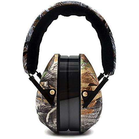 Protección auditiva / Auriculares plegables de insonorización del manguito del oído con cancelación de ruido, Camo