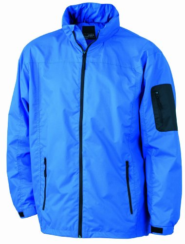 JAMES & NICHOLSON Funktionsjacke, Blouson Homme Bleu (royal/black)