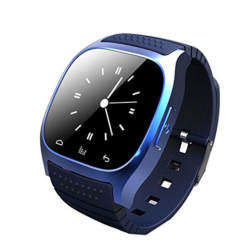 Kolylong® Compañero Elegante del teléfono del Reloj de 1PC Bluetooth para iOS Android (Blue)