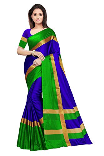 BEST COLLECTION Art Silk Saree With Blouse Piece