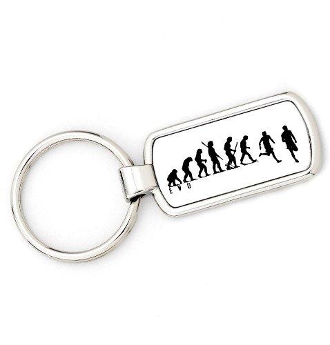Mans Evolution Schlüsselanhänger Ape zu laufen Joggen Runner Schlüssel Ring Geschenk