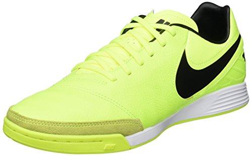 Nike Tiempo X Mystic V IC, Scarpe da Calcetto Indoor Uomo, Verde Black/Volt, 45.5 EU