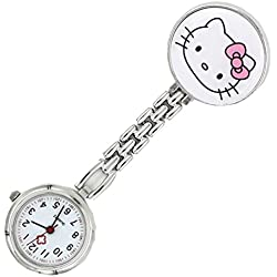 Meta-U Cat Pocket Watch-White
