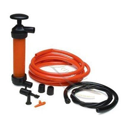 Zento Deals 3en 1main Siphon Pompe à gaz/liquide/Air manuel de voyage d'urgence véhicule Pompe