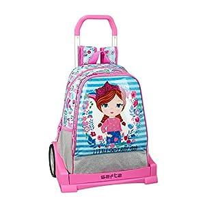 Glowlab Kids Oficial Mochila Infantil, Modelo 538 con Carro Safta Evolution, 330x420x140 mm