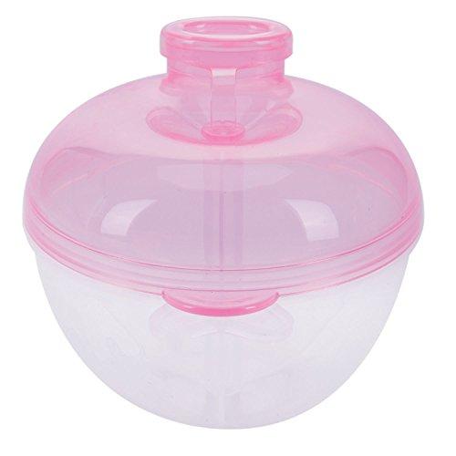 Nrpfell Formula dispensador, para no Derramamiento del bebe del dispensador de leche en polvo y Snack Copa, los alimentos para ninos contenedor de almacenamiento (rosa)