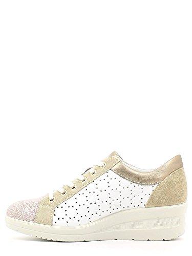ENVAL , Chaussures de ville à lacets pour femme Blanc Cassé - Bianco