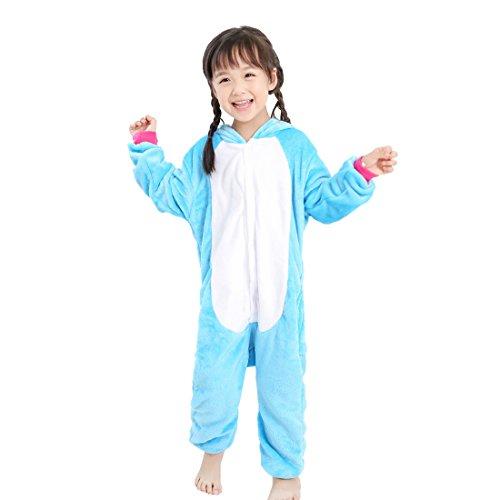 GWELL Unisexe Animal Pyjama Animaux Enfant Combinaison Cosplay Outfit Vêtements de Nuit Déguisements Hiver Chaud Costume de sommeil Filles Garçons