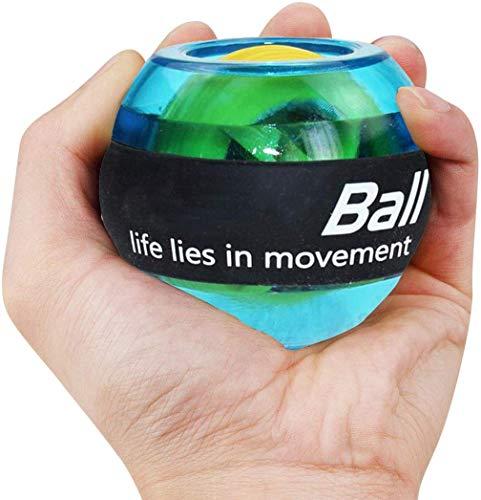 Khosd Arco Iris LED Músculo Poder Bola para La Muñeca Entrenador Relajar Giroscopio PowerBall Gyro...
