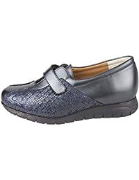 Zapato Sport Ancho y cómodo, con Plantillas extraibles, Color Azul, Ideal para Esta