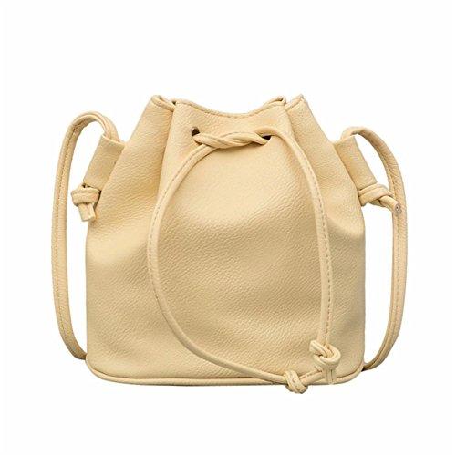 Borsa donna,kword borsa donna sacchetto benna coulisse | borsa tracolla in pelle | messenger bag | borsa borsetta (giallo)